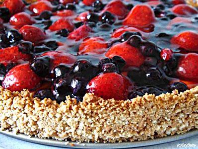 Торт с замороженными ягодами рецепт с фото